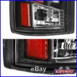 For 88-98 Chevy Silverado SPARTAN Black 3D Bar LED Taillights Pickup Brake L+R