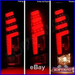 For 88-98 GMC Sierra 1500 2500 3500 SPARTAN Black Smoke 3D Tube LED Taillights