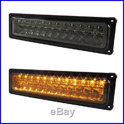 For 94-99 Chevy Tahoe Suburban Smoked Headlights LED Bumper + LED Tail Lights