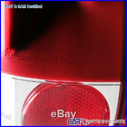 For 97-03 F150 99-07 F250 F350 F450 F550 Pickup LED Tail Lights Brake Lamps Red