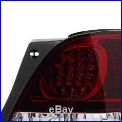 For 98-05 Lexus GS300 GS400 GS430 Red Clear LED Tail Rear Trunk Lamps Light Pair