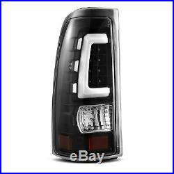 For 99-02 Chevy Silverado/99-06 GMC Sierra Black LED White Tube Tail Light Lamps