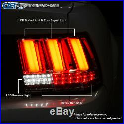 For 99-04 Ford Mustang Pearl Black LED Sequential Turn Signal Tail Brake Lights