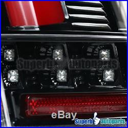 For 99-04 Ford Mustang Sequential LED Tail Lights Rear Brake Lamps Shiny Black