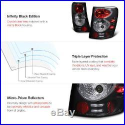 For 99-04 GRAND CHEROKEE WG WJ L+R BLACK LED HALO PROJECTOR HEADLIGHT+TAIL LIGHT