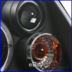 For 99-05 VW Jetta Bora MK4 Black Halo LED Headlights+Glossy Smoke Tail Lights