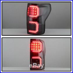 For Black 2007-2013 Toyota Tundra LED Light Tube Style Tail Lights Brake Lamps