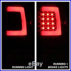 For Black Bright Light Tube 2007-2013 Toyota Tundra LED Tail Lights Brake Lamps