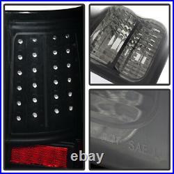 For Black Smoke 2007-2013 Toyota Tundra LED Tail Lights Brake Lamps Left+Right