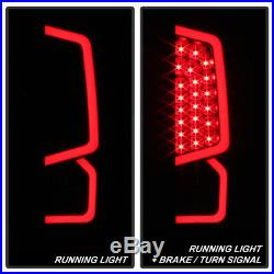 For Black Smoked 2014-2018 Toyota Tundra LED Tube Tail Lights Lamps Left+Right