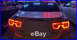 For Chevrolet Malibu LED Rear Lamp Assembly LED Tail Lights 2013-2015 Black AMA