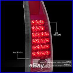 For Chevy/gmc C/k C10 C-1500/2500/3500 Chrome Housing Red Lens Led Tail Lights