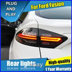 For Ford Fusion 2013-2016 Black LED Rear Lamps Assembly LED Tail Lights