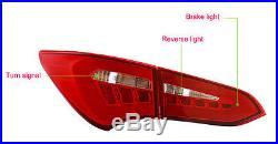 For HYUNDAI 2013-2017 Santa Fe DM LED Surface Emitting Tail Lights Rear Lamp 4p