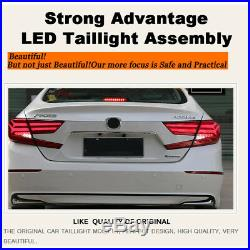 For Honda Accord Dark / Red LED Rear Lamps Assembly LED Tail Lights 2018 2019