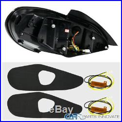 For Hyundai 10-16 Genesis Coupe Black LED Sequential Signal Tail Brake Lights