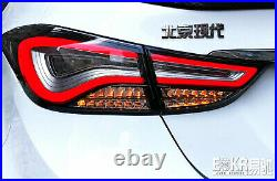 For Hyundai elantra Dark / Red LED Rear Lamps Assembly LED Tail Lights 2011-2015