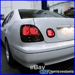 For Lexus 98-05 GS300 GS400 GS430 Smoke Tinted Rear LED Tail Lights+Trunk Lamps