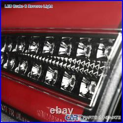 For Mitsubishi 08-17 Lancer EVO X Pearl Black LED Tail Lights Brake Lamps Pair