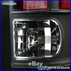 For Ram 09-18 1500 2500 3500 Black Halo Projector Headlights+LED Tail Brake Lamp