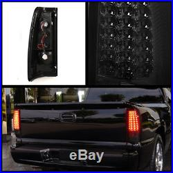 For Smoked 03-06 Chevy Silverado 05-06 Sierra LED Smk TailLights Lamp Pair Set