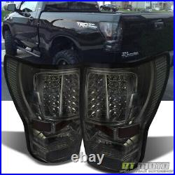 For Smoked 2007-2013 Toyota Tundra Pickup LED Tail Lights Brake Lamps Left+Right