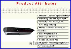 For Toyota Camry Tail Lights Assembly 2018-2021 Black Color All LED Rear Lamps