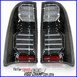 For Toyota Hilux Vigo Sr5 Mk6 2005-15 Champ Mk7 Rear Black Smoke Led Tail Lights