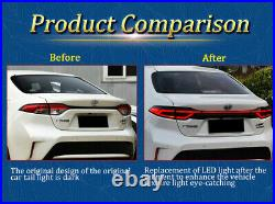For Toyota US Corolla Tail Lights Assembly 2020-2021 Red Color All LED Rear Lamp