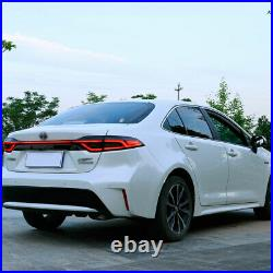 For Toyota US Corolla Tail Lights Assembly 2020-2021 Smoke Color LED Rear Lamps