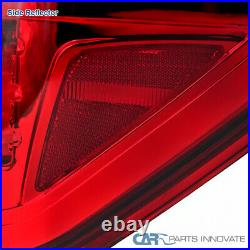 Ford 09-14 F150 F-150 Pickup Red LED Tail Lights Rear Brake Lamps Left+Right