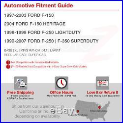 Ford 97-03 F150 99-07 F250/F350/F450 SD Super Duty Truck Smoke LED Tail Lights