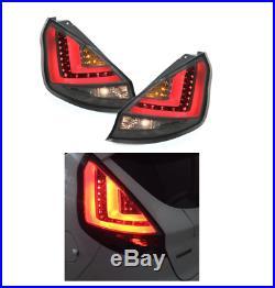 Ford Fiesta Mk7.5 Facelift 13 17 Smoked LED Lightbar Rear Lights Taillights