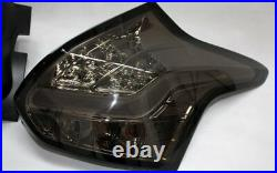 Ford Focus Mk3 2014 Rear LED Chrome Smoked Tinted Tail Lights