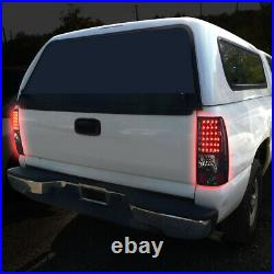 Full Ledfor 03-07 Chevy Silverado Gmc Sierra Tail Light Rear Brake Lamp Smoked