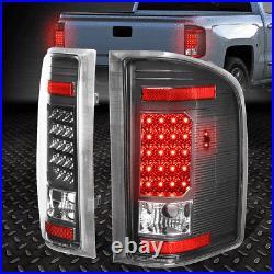 Full Ledfor 07-14 Chevy Silverado Gmc Sierra Tail Light Rear Brake Lamp Black