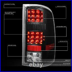 Full Ledfor 07-14 Gmc Sierra 1500 2500hd 3500hd Tail Light Brake Lamps Black