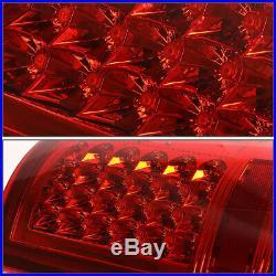 Full Ledfor 09-17 Ram 1500 2500 3500 Truck Tail Light Rear Stop Brake Lamp Red