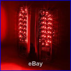 Full Ledfor 90-97 Ford F150 F250 F350 Bronco Tail Light Rear Brake Lamp Chrome
