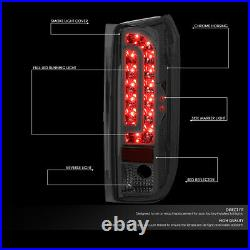 Full Ledfor 90-97 Ford F150 F250 F350 Bronco Tail Light Rear Brake Lamp Smoked