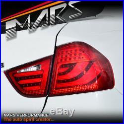 Full Red 3D LED Tail Lights for BMW E90 LCI 09-11 320i 323i 325i 335i 330i