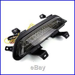 Full Smoke Blackout LED Bar Tail Brake Reverse Lights for 15-17 Ford Mustang GT