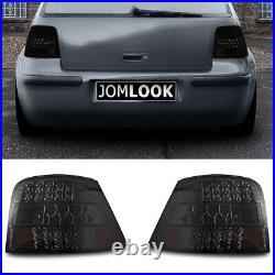 Für VW Golf 4 IV MK4 Original JOM LED Rückleuchten Schwarz Smoke SET