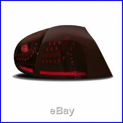 Für VW Golf 5 V MK5 Limo Original JOM LED Rückleuchten Dunkelrot Smoke SET