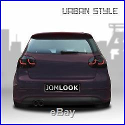 Für VW Golf 5 V MK5 Limo Original JOM URBAN LED Rückleuchten Schwarz Smoke SET