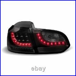 Für VW Golf 6 VI MK6 Limo Original LO-Style LED Rückleuchten Schwarz Smoke SET