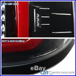 GMC 14-17 Sierra 1500 2500HD 3500HD Pearl Black LED Tail Lights Brake Lamps Pair