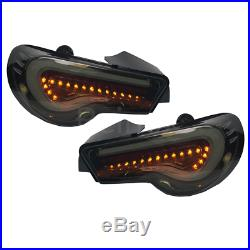 GT-86 FRS BRZ ZN6 LED Tail Light Valenti Sequential Signal Smoke US TYPE 13-18
