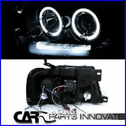 Glossy Black 04-08 F-150 Halo LED Projector Headlights+Smoke Rear Tail Lamps