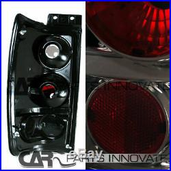 Glossy Black 97-02 Ford Expedition Halo LED Projector Headlights+Smoke Tail Lamp